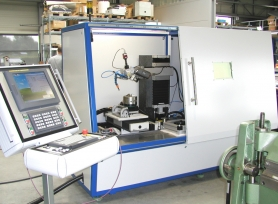 4-axis CNC-controlled laser cutting and welding system for Burster Präzisionsmesstechnik.